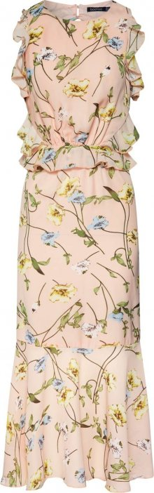 Boohoo Letní šaty světle šedá / růžová