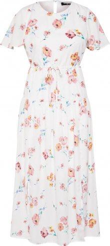 Fashion Union Letní šaty \'JEN\' růžová / bílá
