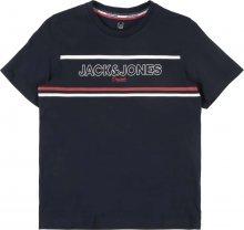 Jack & Jones Junior Tričko \'NEWSHAKEDOWN\' námořnická modř / bílá