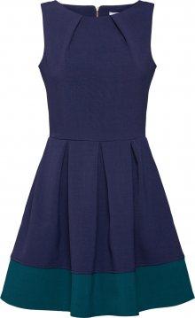 Closet London Koktejlové šaty zelená / námořnická modř