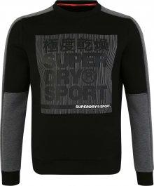Superdry Sportovní mikina tmavě šedá / černá