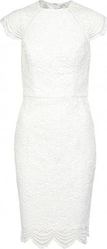 Chi Chi London Koktejlové šaty perlově bílá