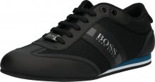 BOSS Sportovní šněrovací boty \'Ligter\' modrá / černá