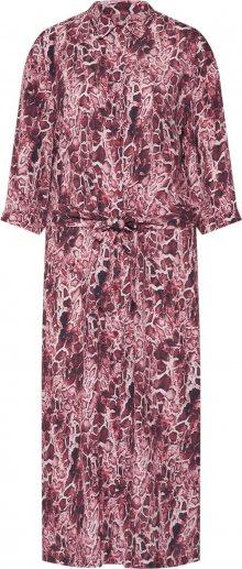 Freebird Košilové šaty červená / burgundská červeň