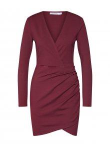 IVYREVEL Šaty \'V FRONT DRESS\' burgundská červeň