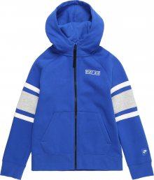 Nike Sportswear Mikina modrá / šedá