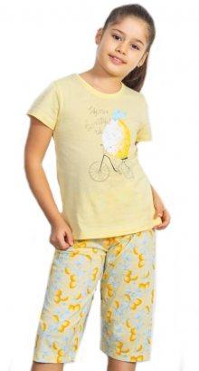 Dětské pyžamo kapri Vienetta Secret Citron | žlutá | 5 - 6