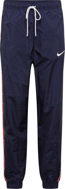 Nike Sportswear Kalhoty tmavě modrá / červená / bílá