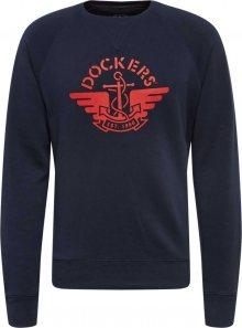 Dockers Mikina tmavě modrá / červená