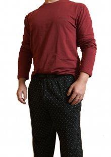 Pánské pyžamo Calvin Klein 1469E | vínová | S