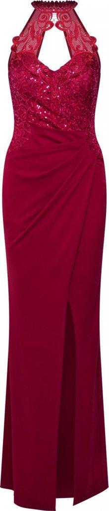Lipsy Společenské šaty \'WS RED HLTR SQ WRP M\' brusinková