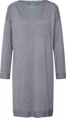 UNITED COLORS OF BENETTON Úpletové šaty tmavě šedá
