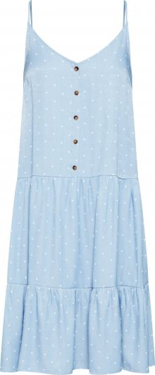 SISTERS POINT Letní šaty \'VICKI-ST.DR\' světlemodrá / bílá