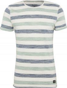 BLEND Tričko chladná modrá / mátová / bílá