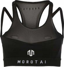 MOROTAI Sportovní podprsenka \'NAKA Performance\' černá / bílá
