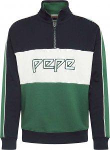 Pepe Jeans Mikina \'LOGANNE\' tmavě modrá / zelená