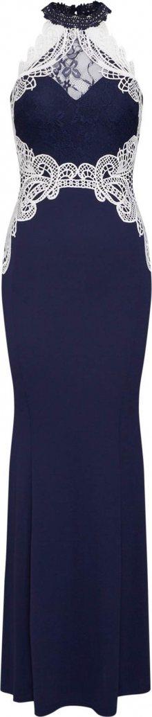 Lipsy Společenské šaty \'WS NVY CNTRST HLTR M\' bílá / námořnická modř