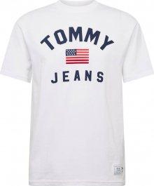 Tommy Jeans Tričko \'TJM USA FLAG TEE\' modrá / červená / bílá