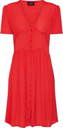 OBJECT Šaty červená / bílá
