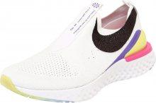 NIKE Běžecká obuv \'WHITE/BLACK-LASER FUCHSIA-PSYCHIC PURPLE\' mix barev / černá / bílá