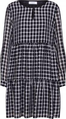 PIECES Košilové šaty \'PCLIA LS DRESS D2D\' černá / bílá
