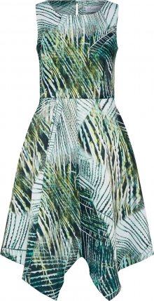 Closet London Letní šaty zelená / bílá