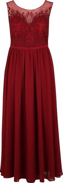 My Mascara Curves Společenské šaty \'LACE SHOULDER\' červená