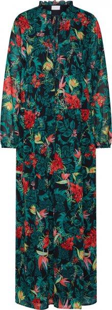 VILA Košilové šaty \'Nema Amazonas\' zelená / černá