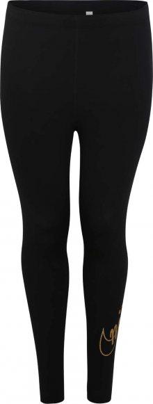 Nike Sportswear Legíny \'W NSW LGGNG GLITTER PLUS\' zlatá / černá