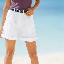 Blancheporte Ohrnovací bermudy - šortky bílá 38