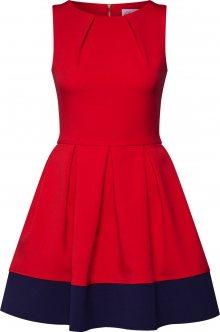 Closet London Koktejlové šaty námořnická modř / červená