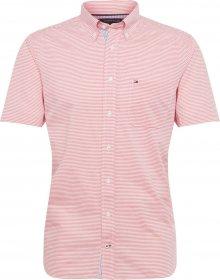 TOMMY HILFIGER Košile \'CLASSIC STRIPE SHIRT S/S\' červená / bílá