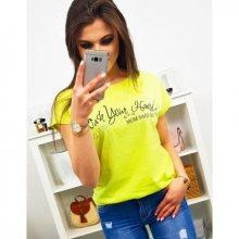 Dámské tričko MOM SAID SO s potiskem žluté