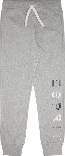 ESPRIT Kalhoty šedý melír