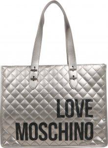 Love Moschino Nákupní taška \'BORSA QUILTED NAPPA PU NERO\' světle šedá