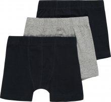 NAME IT Spodní prádlo \'TIGHTS 3P SOLID GREY\' šedý melír / černá