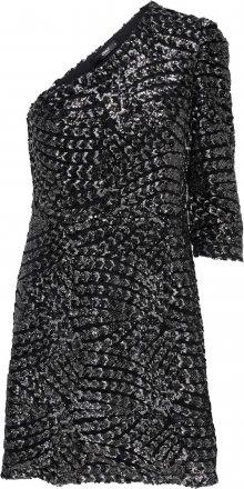 ONLY Šaty černá / stříbrná