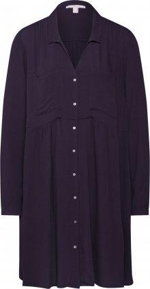 ESPRIT Košilové šaty černá