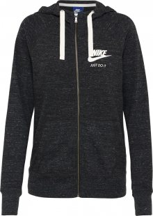 Nike Sportswear Mikina s kapucí čedičová šedá / offwhite