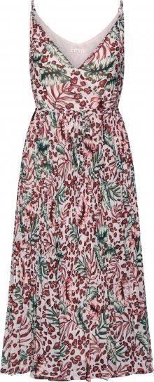 khujo Letní šaty \'ROSE\' červená / zelená / růžová