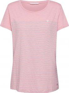 TOM TAILOR DENIM Tričko růžová / bílá