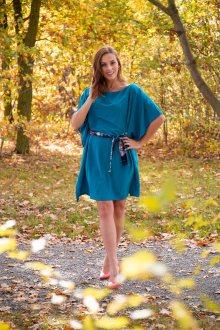 Simpo modré šaty Waterfall Blue - U
