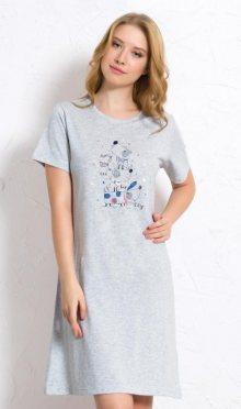 Dámská noční košile s krátkým rukávem Vienetta Secret Psi | korálová | S