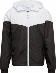 Urban Classics Přechodná bunda černá / bílá