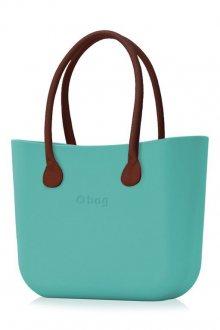 O bag kabelka Aqua s hnědými dlouhými koženkovými držadly