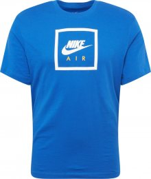 Nike Sportswear Tričko \'AIR\' modrá / bílá
