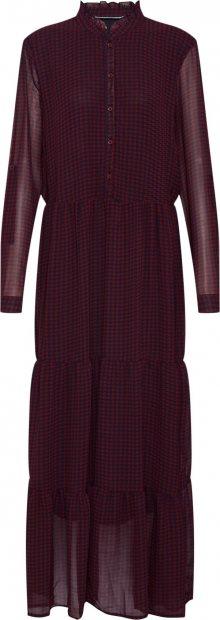 ONLY Košilové šaty \'Daphine\' vínově červená / černá
