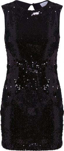 Carolina Cavour Šaty \'Sequins Dress\' černá