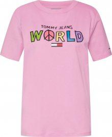 Tommy Jeans Tričko mix barev / růžová