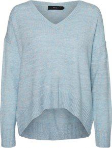 Vero Moda Dámský svetr VMLUCKYDUARTE LS V-NECK BLOUSE Cool Blue W. Multi Lurex M